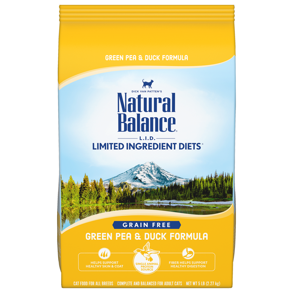 NATURAL BALANCE CAT LID GRAIN FREE GREEN PEA & DUCK 10LB