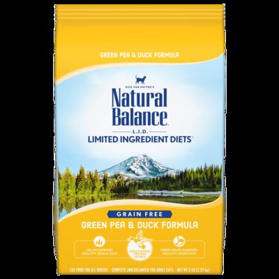 NATURAL BALANCE CAT LID GRAIN FREE GREEN PEA & DUCK 10LB