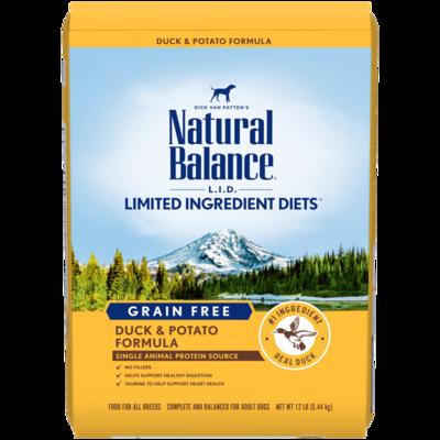NATURAL BALANCE LID GRAIN FREE DUCK & POTATO 4.5LB