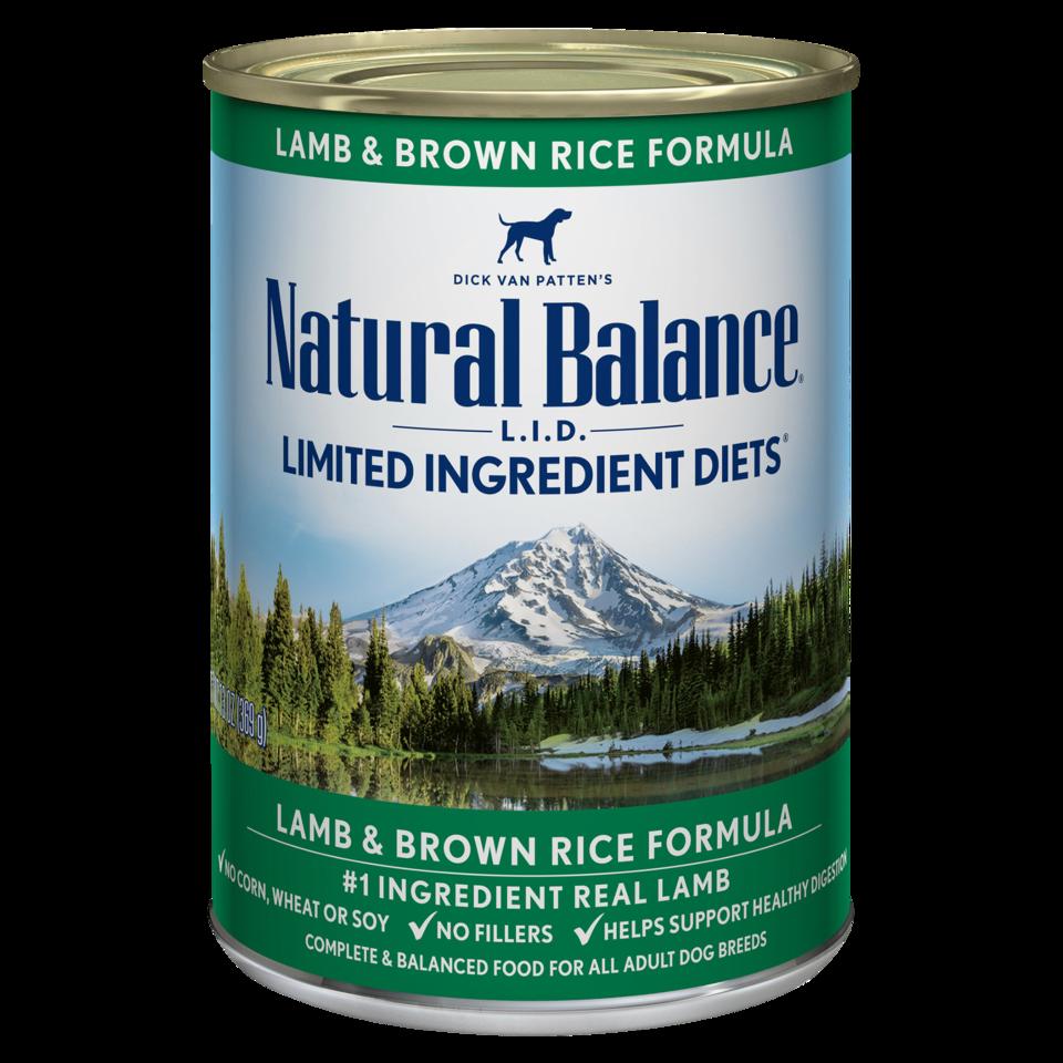 NATURAL BALANCE LAMB & BROWN RICE CAN 13OZ