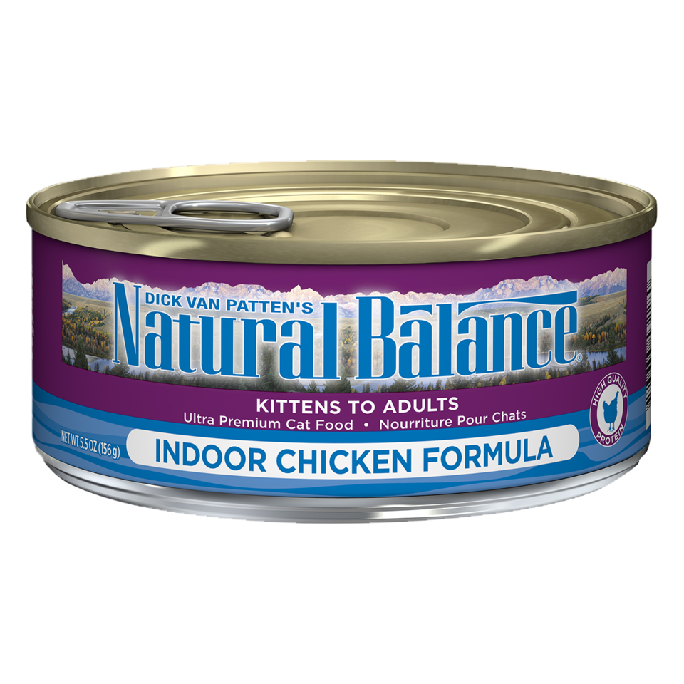 NATURAL BALANCE CAT INDOOR CHICKEN PATE 5.5OZ