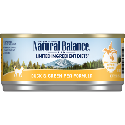 NATURAL BALANCE CAT DUCK & GREEN PEA PATE 5.5OZ