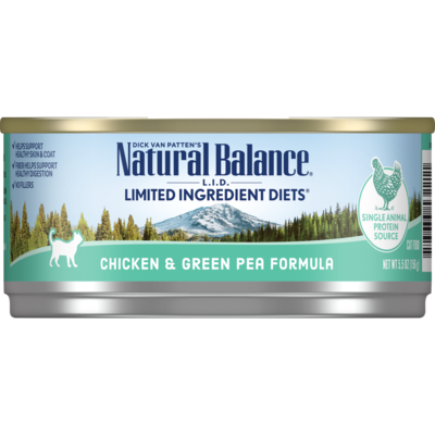 NATURAL BALANCE CAT CHICKEN & GREEN PEA PATE 5.5OZ