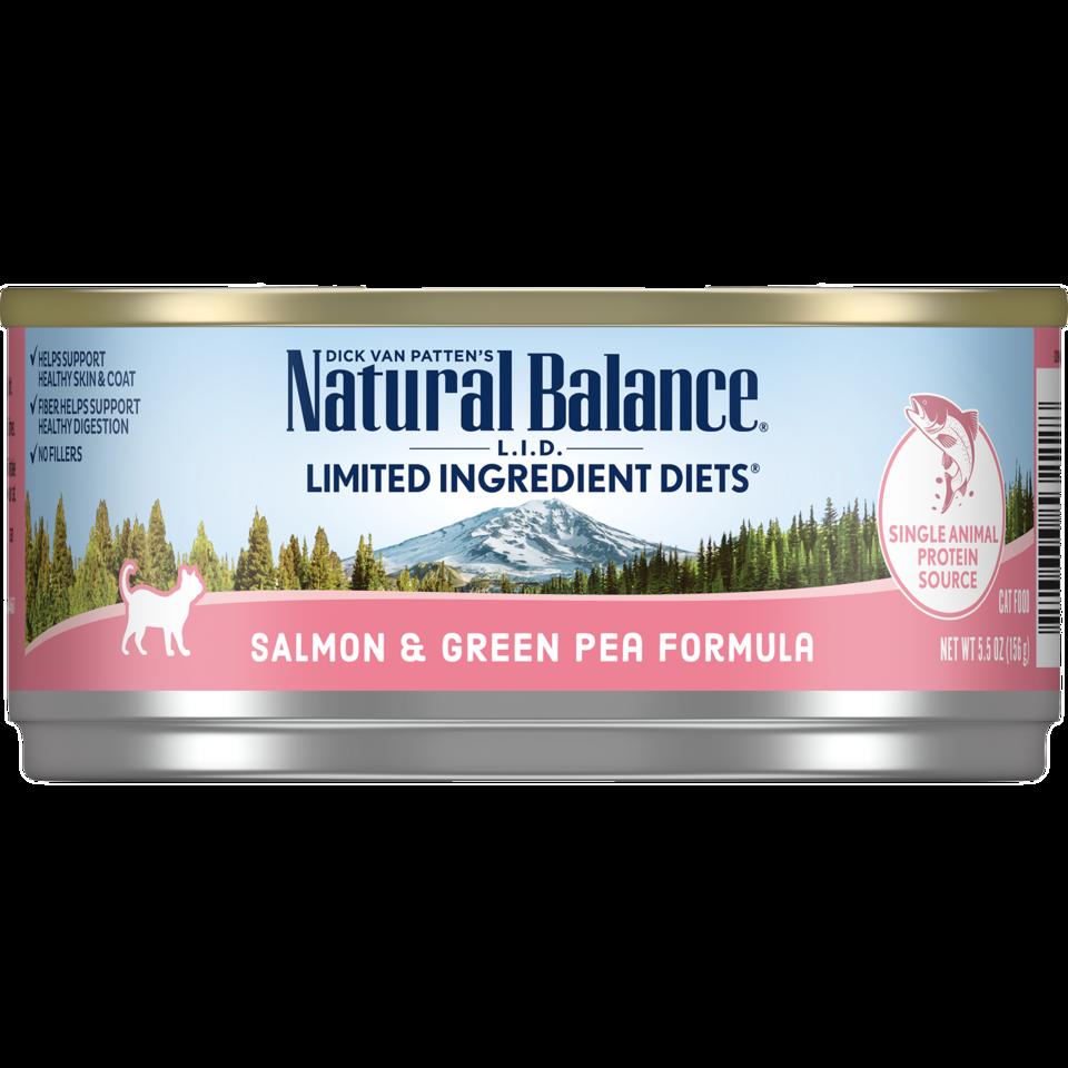 NATURAL BALANCE CAT SALMON & GREEN PEA PATE 5.5OZ
