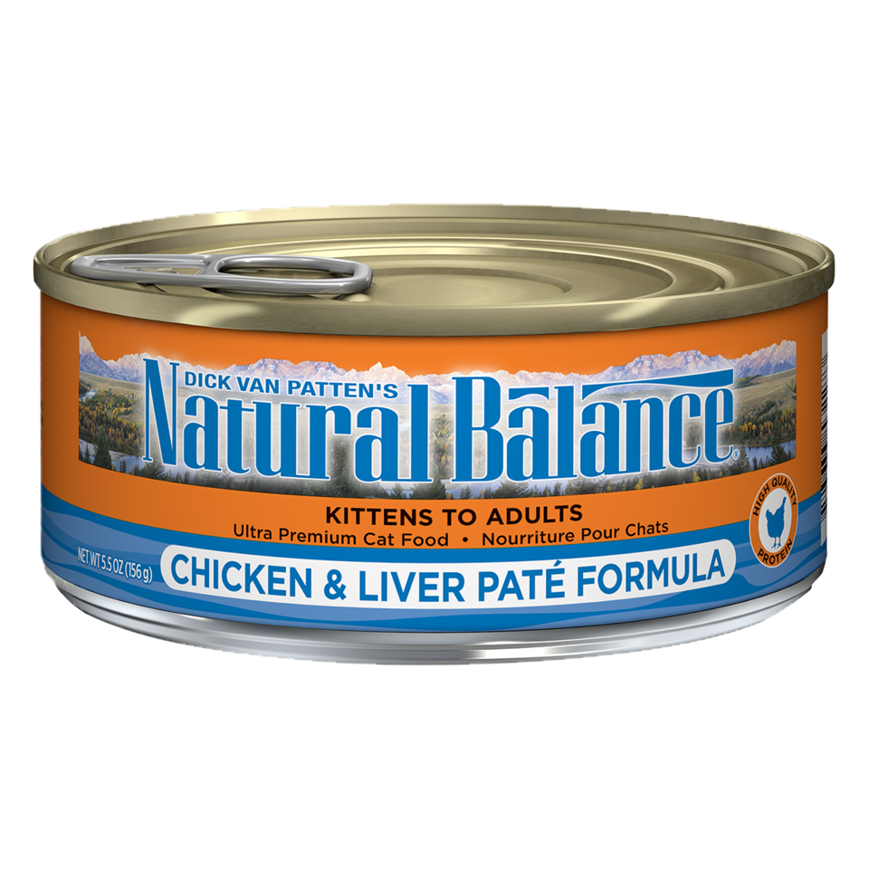 NATURAL BALANCE CAT CHICKEN & LIVER PATE 5.5OZ