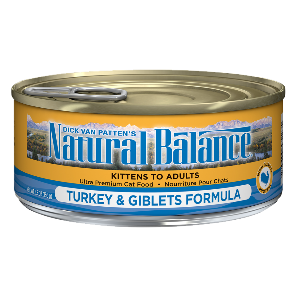 NATURAL BALANCE CAT TURKEY & GIBLETS PATE 5.5OZ