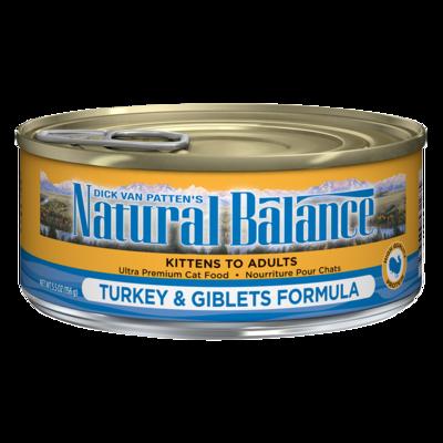 NATURAL BALANCE CAT TURKEY & GIBLETS PATE 5.5OZ