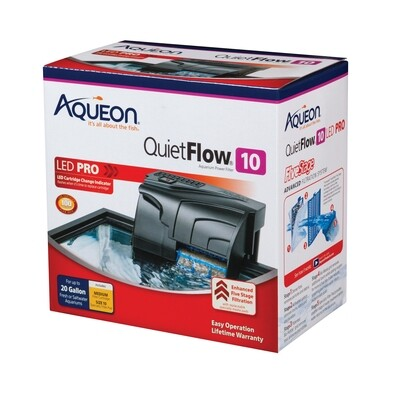 Aqueon QuietFlow LED Pro 10 Power Filter