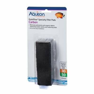 Aqueon QuietFlow Specialty Filter Pads Carbon 30/50