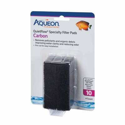 Aqueon QuietFlow Specialty Filter Pads Carbon 10