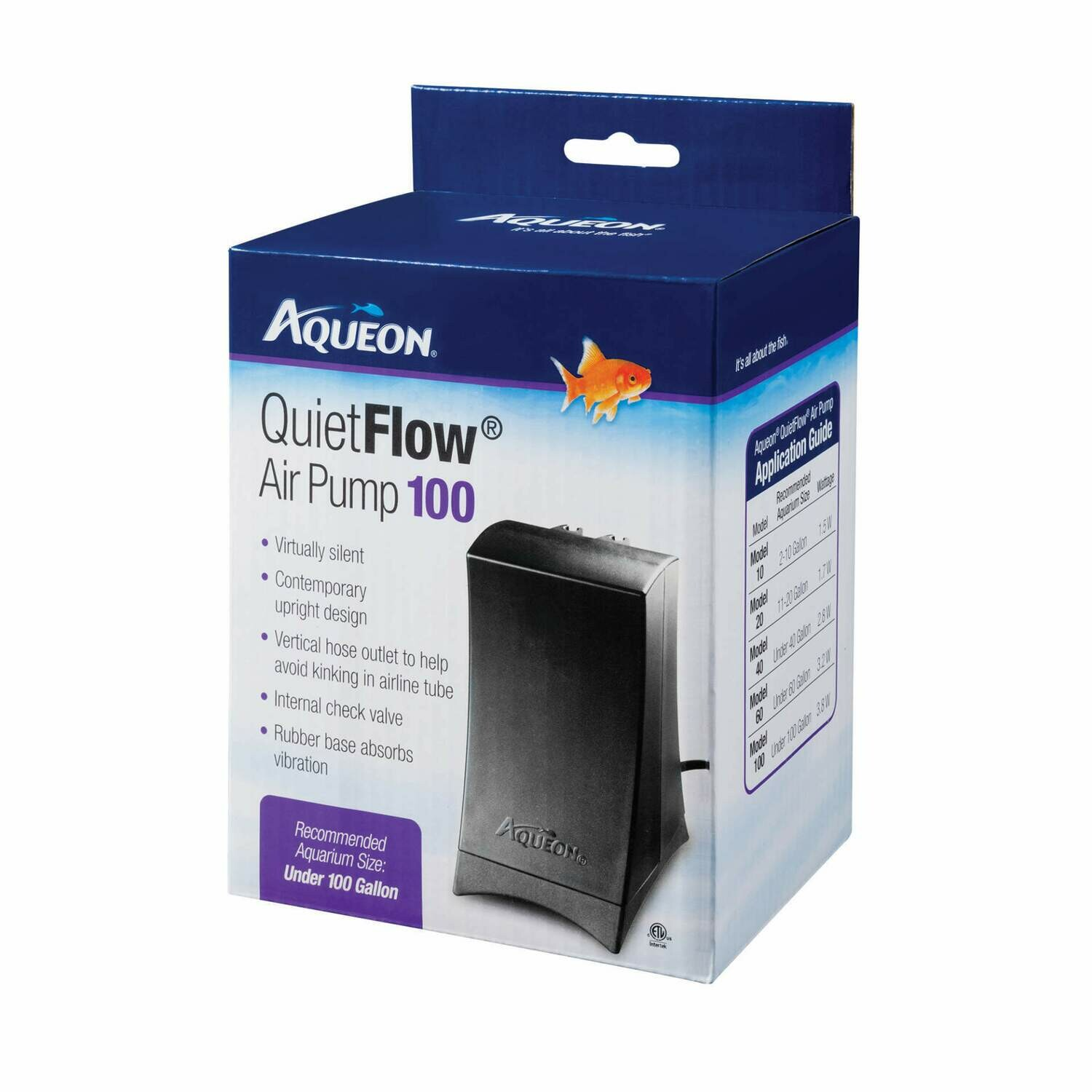 Aqueon QuietFlow Air Pump 100