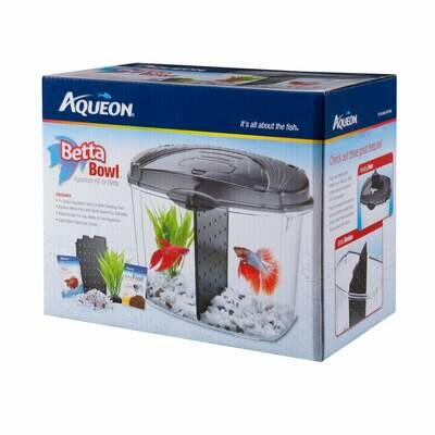 Aqueon Betta Bowl Starter Kit Black