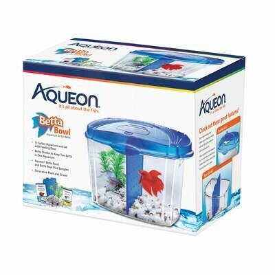 Aqueon Betta Bowl Starter Kit Blue