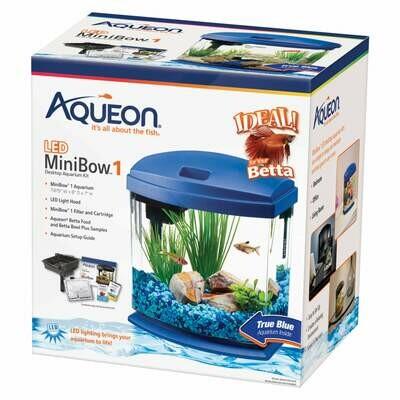 Aqueon MiniBow LED Kit 1 Gallon Blue