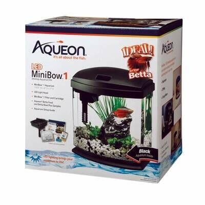 Aqueon MiniBow LED Kit 1 Gallon Black