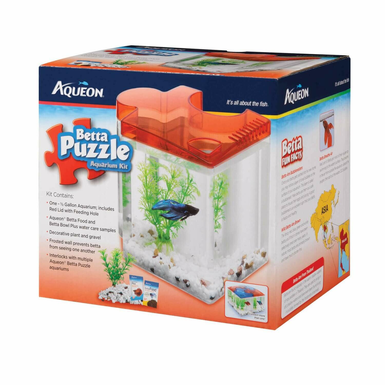 Aqueon Betta Puzzle Red