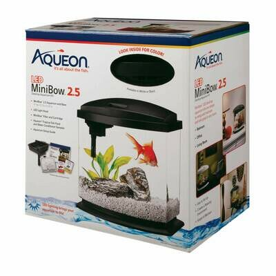 Aqueon MiniBow LED Kit 2.5 Gallon Black