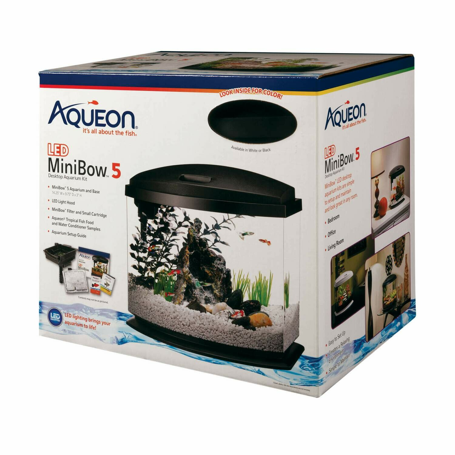 Aqueon MiniBow LED Kit 5 Gallon Black