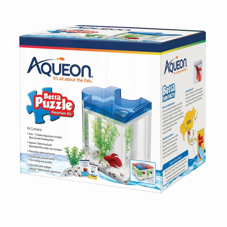 Aqueon Betta Puzzle Blue