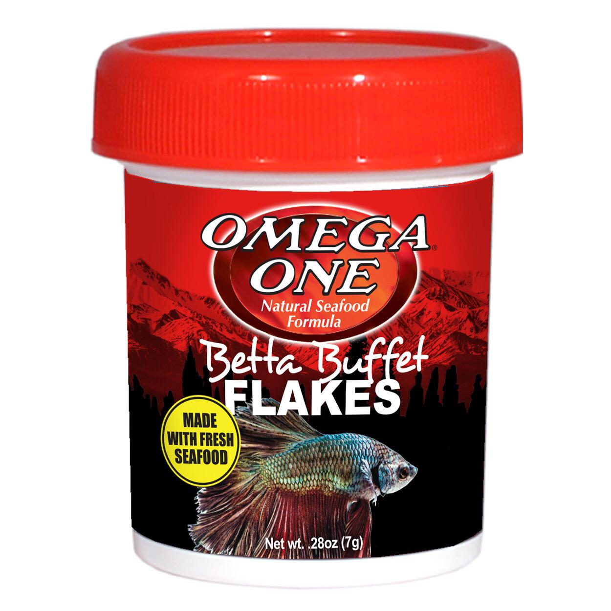 Omega One Betta Buffet Flakes 0.28oz