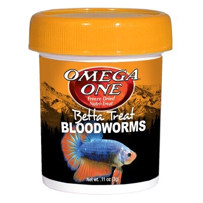 Omega One Betta Bloodworms 0.11oz
