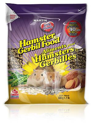 MARTIN LITTLE FRIENDS HAMSTER & GERBIL FOOD 500G