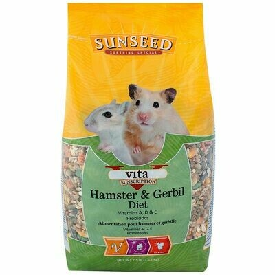 Sunseed Vita Hamster & Gerbil Food 2.5lb