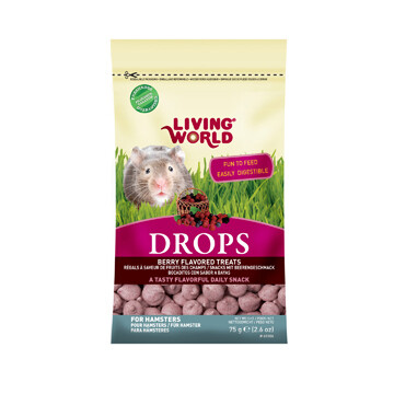 LIVING WORLD HAMSTER TREAT - FIELD BERRY 75g