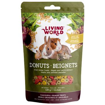 LIVING WORLD SMALL ANIMAL DONUTS - 120g