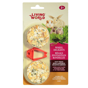LIVING WORLD WHEEL DELIGHTS HERB/HAY 2PK