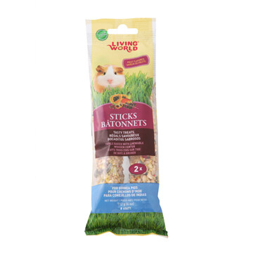 LIVING WORLD GUINEA PIG STICK - FRUIT FLAVOUR 112g