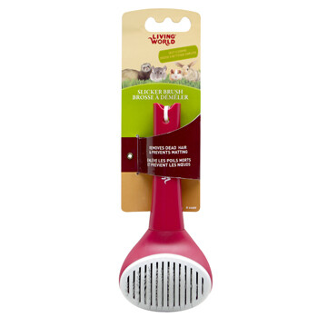 LIVING WORLD SLICKER BRUSH SELF-CLEANING