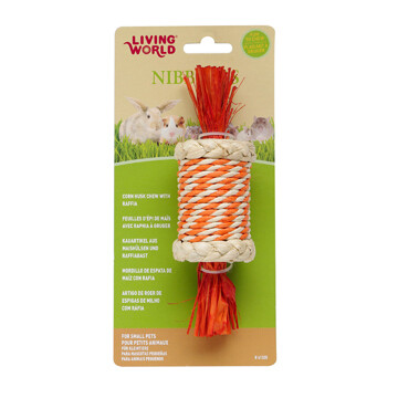 LIVING WORLD NIBBLERS CANDY CORN HUSK CHEW