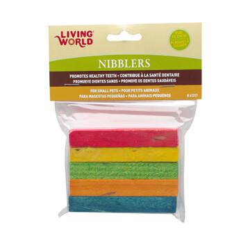 LIVING WORLD NIBBLERS RAINBOW WOOD CHEWS