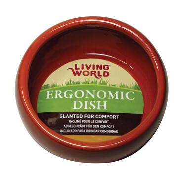 LIVING WORLD ERGONOMIC DISH SMALL TERRA COTTA