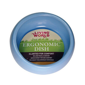 LIVING WORLD ERGONOMIC DISH SMALL BLUE
