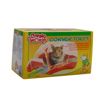 LIVING WORLD CORNER TOILET FOR HAMSTERS & GERBILS