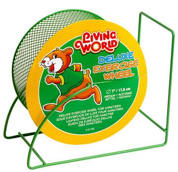 """LIVING WORLD DELUXE EXERCISE WHEEL GREEN 7"""""""
