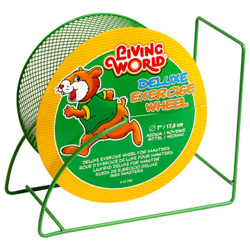 LIVING WORLD DELUXE EXERCISE WHEEL GREEN 7