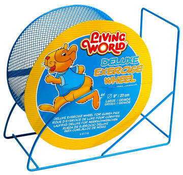 LIVING WORLD DELUXE EXERCISE WHEEL BLUE 9