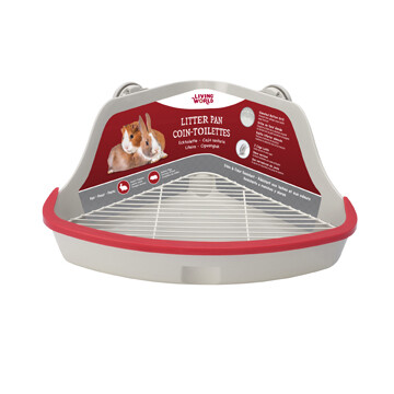 LIVING WORLD CORNER LITTER PAN SMALL GREY