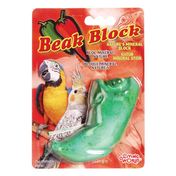 LIVING WORLD MINERAL BLOCK FOR COCKATIELS - GREEN PEPPER