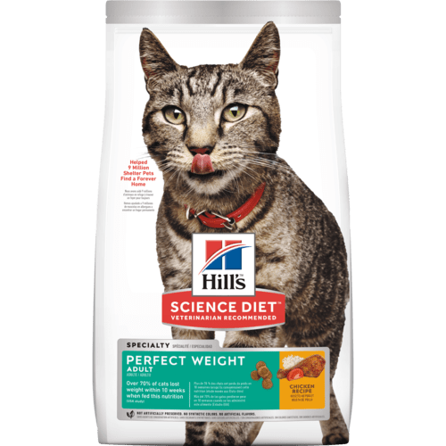 HILL'S SCIENCE DIET CAT - ADULT PERFECT WEIGHT 7LB