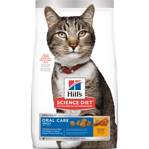 HILL'S SCIENCE DIET CAT - ADULT ORAL CARE 3.5LB