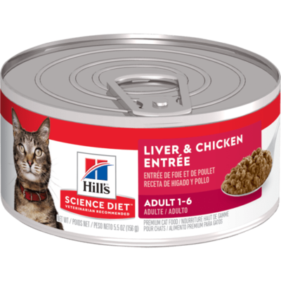 HILL'S SCIENCE DIET ADULT CAT LIVER & CHICKEN ENTREE 5.5OZ