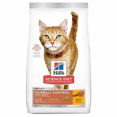 HILL'S SCIENCE DIET CAT - ADULT HARIBALL LIGHT 7LB