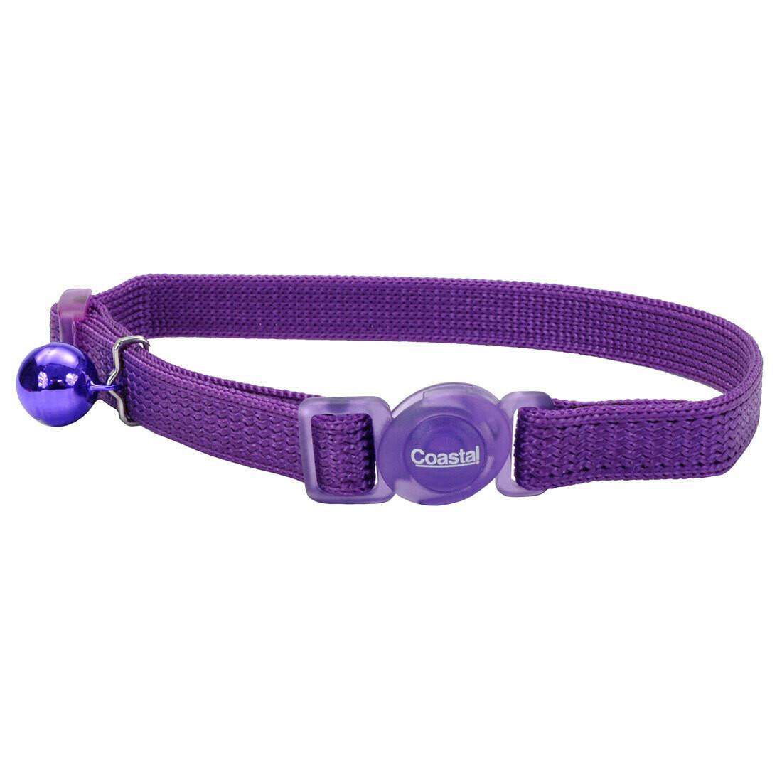 "Safe Cat Collar Breakaway Purple 12"""