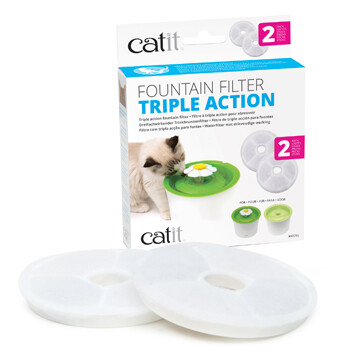 Catit Triple Action Fountain Filter 2pk