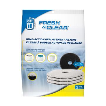 Catit Design Fresh & Cleara Foam/Carbon Filters 3PK