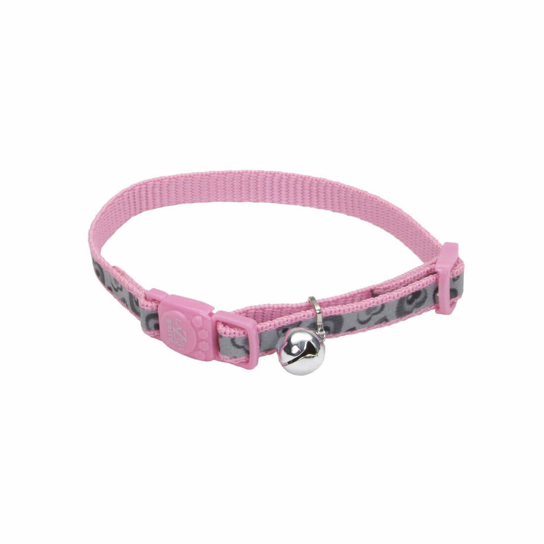Lazer Brite Cat Collar - Pink Hearts